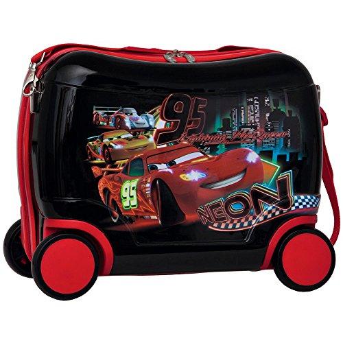 Disney North Star Valigia Trolley Cavalcabile Cars Rosso