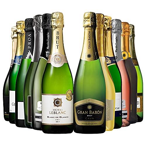 My Wine CLUB マイワインクラブ シャンパン 製法 & 金賞受賞 ワイン 入り スパークリング ワイン 12本 セ...