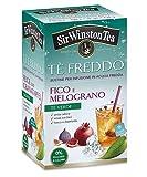Sir Wiston Tea Té verde aromatizado con higo y granada, cero azúcar y calorías frescas y sedientas - 1 x 18 bolsitas de té (45 gramos)