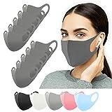 Mundschutz Maske waschbar 10 Stück, Mund und Nasenschutz grau, Behelfsmaske, Alltagsmaske, Gesichtsmaske, Stoffmaske, Community Maske, Damen Herren