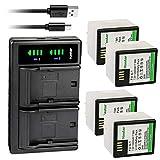 Kastar 4-Pack Battery + LTD2 USB Charger Compatible with Arlo A-1, A-1B, A-1C, P/N: 308-10029-01 Battery, Arlo Pro, VMC4030, Arlo Pro2, Pro 2, Arlo Security Light VMA4400 Netgear, Arlo VMS4230-100PAS