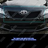 APS Compatible with 2007-2009 Camry Black Stainless Steel Mesh Grille Grill Insert S18-H41257T