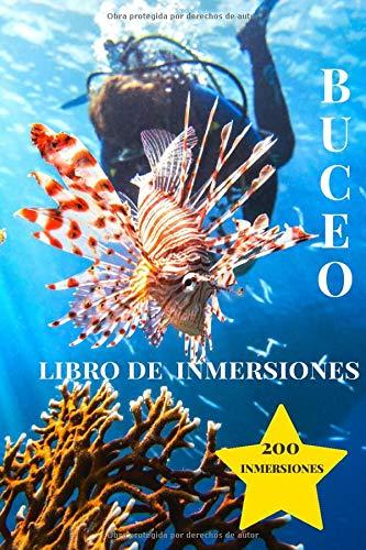 Libro de Inmersiones Buceo: Pez León | Cuaderno de inmersión para buceadores | 200 inmersiones