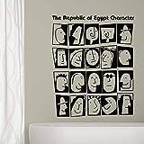 FXBSZ Personalizable decoración de la pared del hogar pegatinas de personajes de dibujos animados sala de estar decoración del dormitorio pegatinas de pared pegatinas de moda Turquesa 57cm x 70cm