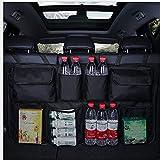 S SMAUTOP Organizador de maletero de coche, organizador de asiento trasero, bolsa de asiento grande,...