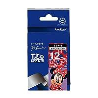 ブラザー工業 TZeテープ ディズニーテープ(ミニーレッド/白字) 12mm TZe-MR35