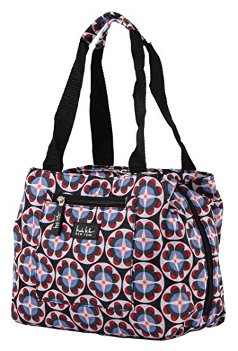 Nicole Miller of New York Insulated Lunch Cooler-11' Lunch Tote (Circle Flower Black)