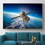 Puzzle 1000 piezas Imagen de arte de pintura de paisaje de espacio exterior de tierra azul y satélite puzzle 1000 piezas educa Rompecabezas de juguete de descompresión intelec50x75cm(20x30inch)