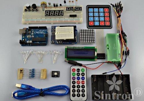 [Sintron] UNO R3 Starter Kit with 4x4 Keypad Switch + 8x8 Dot Matrix + RGB Tri-Colour Module for Arduino Starter