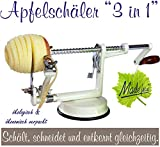 Made for us Profi Alu- Apfelschäler Apfelschneider Apfelentkerner Schälmaschine, in Cremeweiss,...