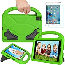 RTOBX Kids Case for iPad Mini 5/4/3/2/1, Durable Shockproof Light Weight Handle Stand Protective Cover with Screen Protector for 7.9 inch iPad Mini 1st/2nd/3rd/4th/5th Generation, Green