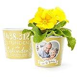 Facepot Goldene Hochzeit Geschenk Blumentopf (ø16cm) | Deko zum 50. Hochzeitstag oder Goldhochzeit...