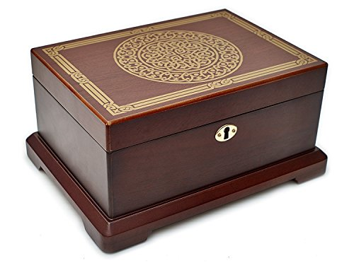 Le Grande Jewelry Box | Unique, High End Antique Wooden Jewelry Case/ Holder/ Organizer Impeccable Traditional Vintage Design| Ideal Jewelry Storage Container