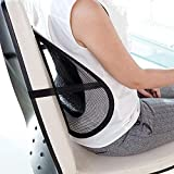 SWARG Universal Back Lumbar Support Chairs for Office Chair, Home, Car, Seat to Relieve Pain 42x5x40 cm (Black)
