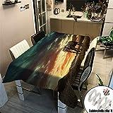 Enhome Tischwäsche Rechteckige Wasserdicht, Verbrühungshemmend Ölfest Garten Outdoor Dekor Tischtuch Polyester Geeignet für Küche Mehrzweck Elefant Tier (Farbe 4,100x140cm)