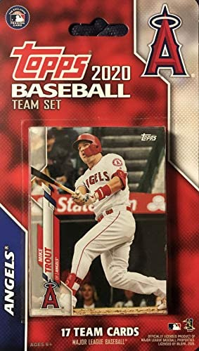 Los Angeles Angels 2020 Topps Factory Sealed Special Edition 17 Card Team Set with Mike Trout product image