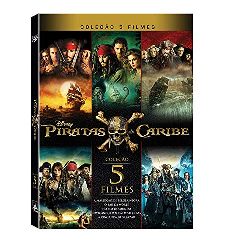 Coleção Piratas do Caribe - 5 Filmes
