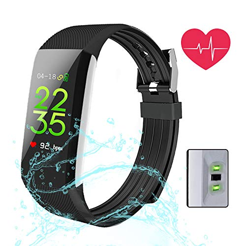 Fitness Tracker, MagicBuds Activiteitstracker met 24 uur continue Hartslagmeter IP67 Waterdicht/Slaapmonitor/Stappenteller/Calorie Counter/GPS Route Tracking/voor Android en iOS