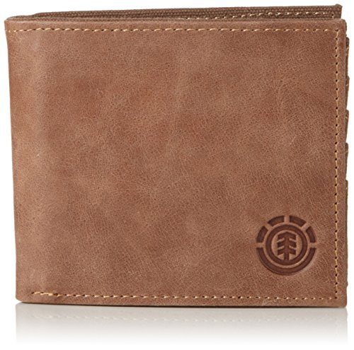 Element Herren AVENUE WALLET Geldbörsen, Braun (Brown 90), 11x10x2 cm