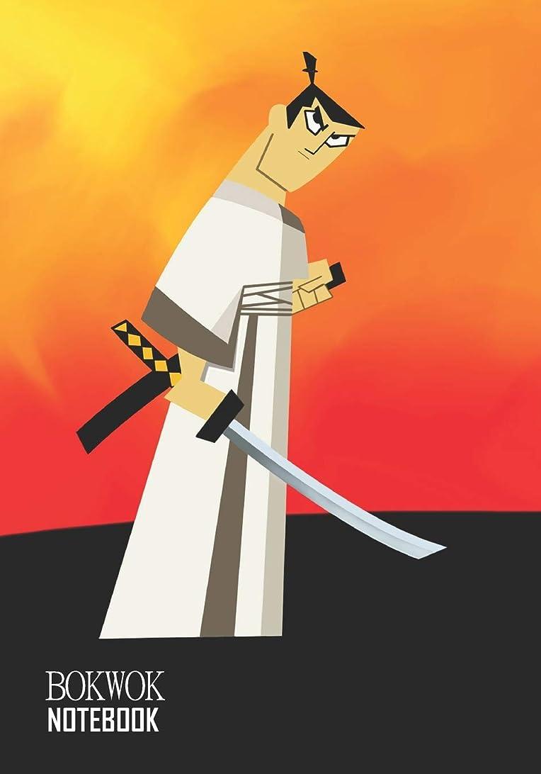 理解する暴力的なイノセンスNotebook: Samurai Jack Medium College Ruled Notebook 129 pages Lined 7 x 10 in (17.78 x 25.4 cm)