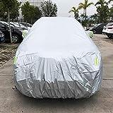 NoNo PVC Anti-Staub Sunproof SUV Car Cover mit Warnstreifen, passt Autos bis zu 4,7 m (183 Zoll) Sonnenschirm -