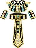 SATINIOR Egyptian Costume Accessory Includes Egyptian Belt Egyptian Collar Wristbands, Multicoloured, Medium