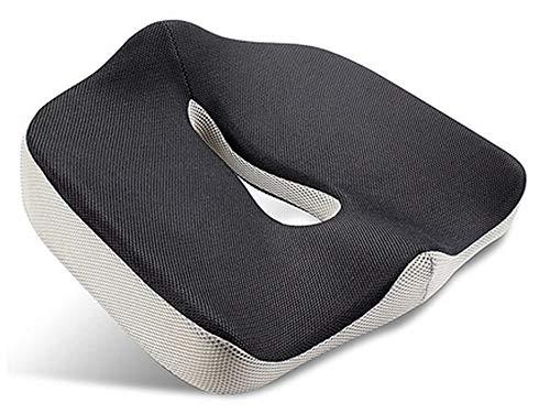Flybiz Cuscino per Sedile Ortopedico Memory Foam, Cuscino per Sedile Memoria di Forma con Fodera Traspirante, Ergonomico Cuscini Seduta per Postura Coccige Sciatica Sollievo Dolore alla Schiena