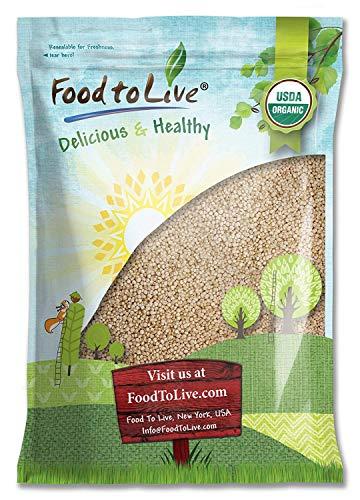 Organic Royal White Quinoa, 5 Pounds - Whole Grain, Non-GMO, Kosher, Raw, Vegan, Sirtfood, Bulk