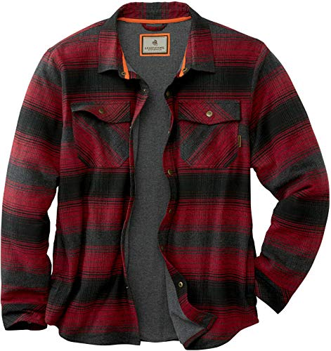 Legendary Whitetails Men's Archer Thermal Lined Flannel Shirt Jacket, Cabin Fever Plaid, X-Large Tall