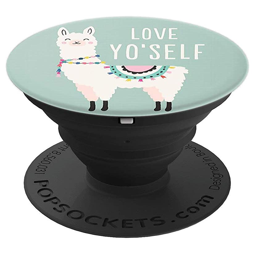 Pop Sockets Llama Llamacorn Love Yourself Blue Cute Funny - PopSockets Grip and Stand for Phones and Tablets