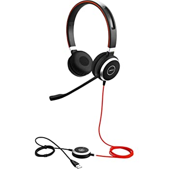 Amazon Com Jabra Evolve 40 Uc Stereo Wired Headset Music Headphones U S Retail Packaging