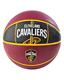 Spalding NBA Cleveland Cavaliers NBA Courtside Team Outdoor Rubber Basketballteam Logo, Maroon, 29.5'
