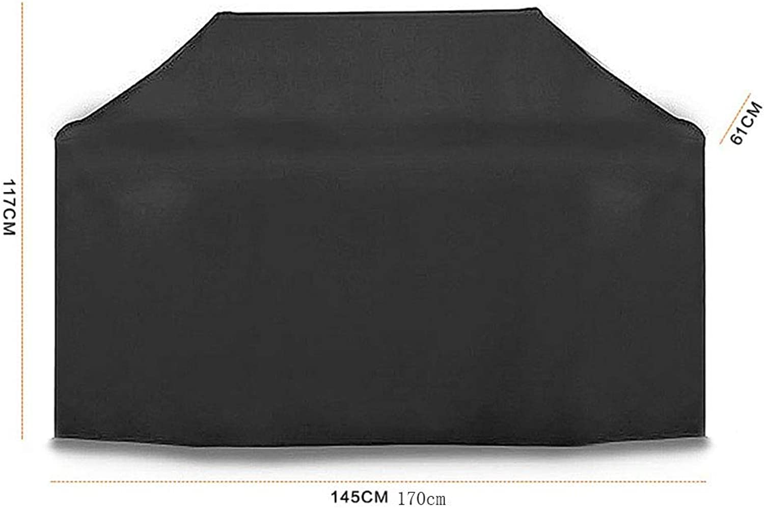 AY-cover Dust Guard Outdoor Dust Cover, Polyester Material, Grill Cover, Rain Sun Predection Windproof (color   Black, Size   145  61  117cm)