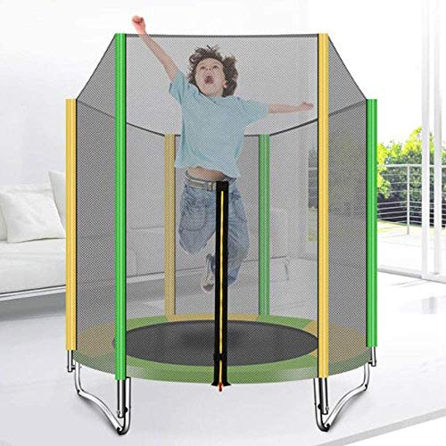 LIN Trampoline for Kids Outdoor Entertainment with Safety Enclosure Net Spring Pad (5FT)