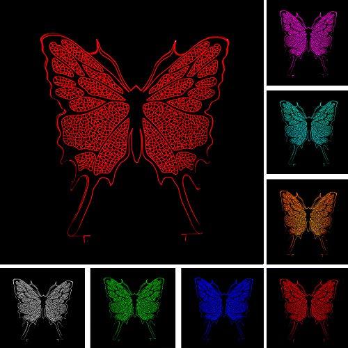 Neuheit Kreative Schmetterling Farbverlauf Freund Spielzeug 3D LED Nachtlicht USB Tischlampe Kinder Geburtstag Geschenk Nachtdekoration am Bett