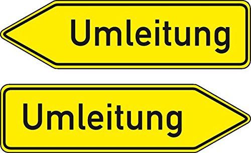 LEMAX® Verkehrszeichen Umleitung doppelseitig,Nr.454-40,Aluminium RA1,refl.,1250x350mm