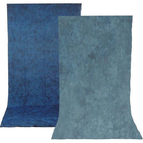 Impact Reversible Muslin Background (10 x 12', Stone Blue/Nickel)