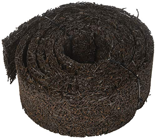 Plow & Hearth 55632 Recycled Rubber Permanent Garden Mulch Border, 120 L x 4.50 W, Black