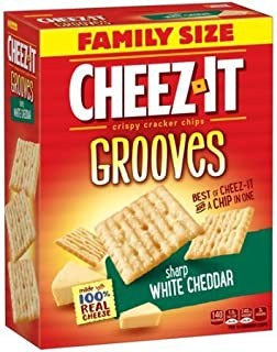 Cheez-It Grooves Crispy Snack Crackers, White Cheddar, 17 Ounce