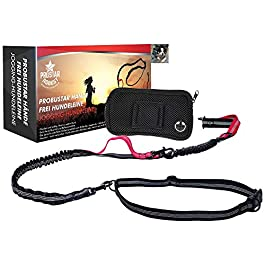 PRobuStar Hands Free Dog Lead   Running Lead   Shock Absorbing, Extendible Dual Bungee   Adjustable Waist Belt for Runners, Jogging, Walking and Shopping   Gift Men and Women