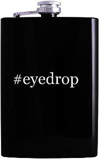 #eyedrop - 8oz Hashtag Hip Alcohol Drinking Flask, Black