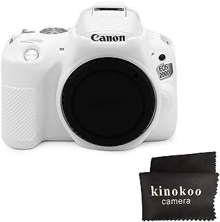 kinokoo Funda de silicona para funda protectora para Canon EOS SL3 / SL2 Canon EOS 250D / 200D / 200D II (blanco)