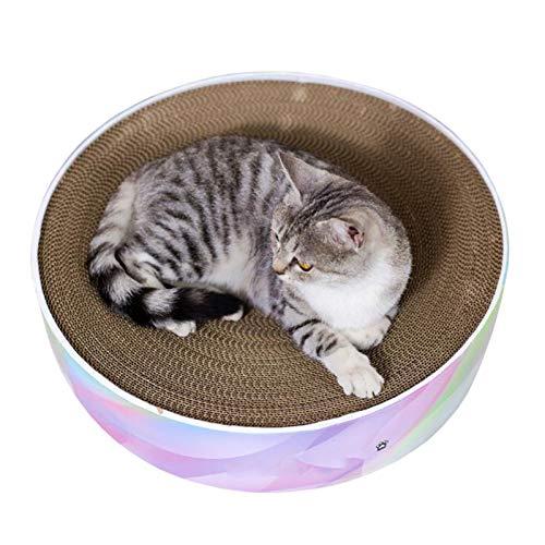 BCCDP Rascador para Gatos Múltiples Funciones Tablero de Premium Corrugado Cartulina Juguete para Gatos Rascador de Gato para Cama y Sofá Rascandoras de Muebles Cartón