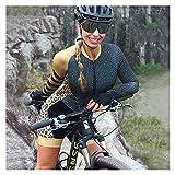 LYYJIAJU Ciclismo Skinsuit Suit Set da donna in jersey da donna, manica lunga, abiti da ciclismo da donna TRIATHLON (Color : A, Size : S)