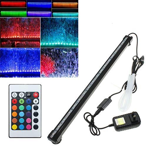 LHY LIGHT LED-Aquarium-Licht wasserdichtes Fisch-Behälter-Luftblase-Lampe mit Fernbedienung Oxygenation Aquatic Unterwasser-Beleuchtung,75cm