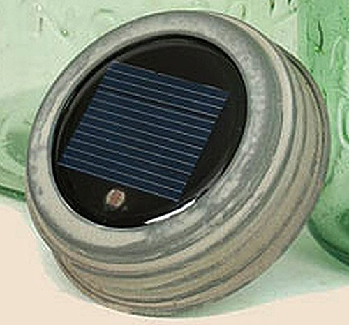 Mason Jar Galvanized Solar Lid Light