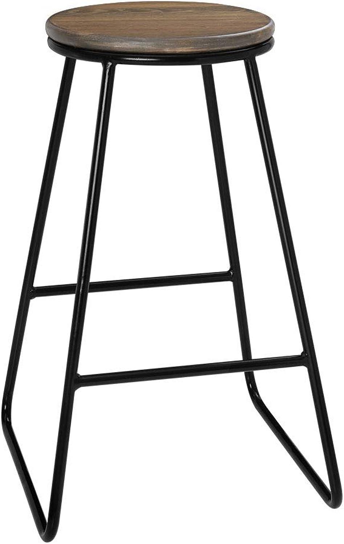 Artiss Industrial Bar Stools Set of 4, 66cm Height Wooden Metal Kitchen Breakfast Counter Chairs