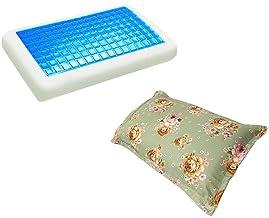 موون مخدة جل الطبية الباردة مقاس 70x40 سم مع غطاء وسادة فارغ مقاس 75x50 سم ، KPCM-003