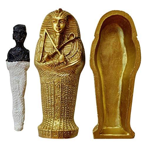BRAND NEWS Caja de sarcófago Egipcio, Rey Egipcio Faraón Ataúd del Rey...