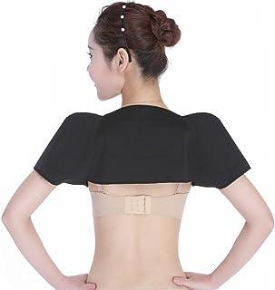 Unisex Black Shoulder Brace- Spontaneous Self-Heating Shoulder Waistcoat Comfort Body Neck Shoulder Wrap for Heat
